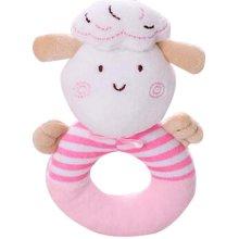 Boys And Girls Newborn Animal Hand Puppet Baby Rattle Pink