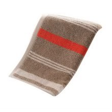Thickening Cotton Face Towels Hotel Couple Towels Home Wash Stripes Towel, Brown