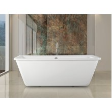 Free-standing - Acrylic - Rectangular Bath with Overfolw Set  - ARUBA
