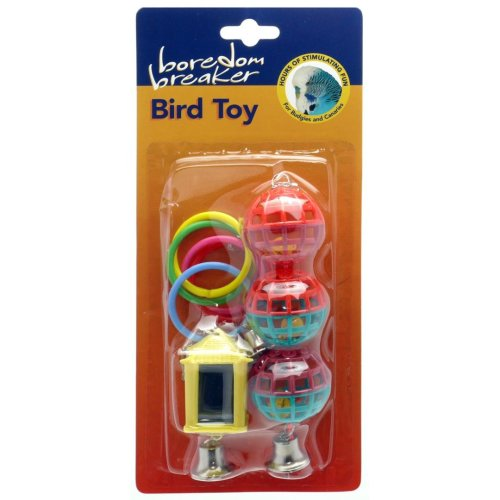 Boredom Breaker Budgie & Canary Toys Assorted Pk3 (Pack of 6)
