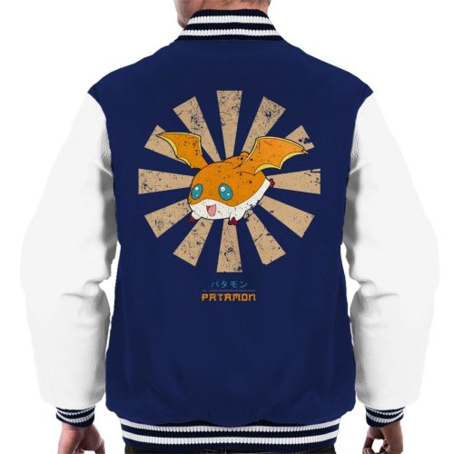 Patamon Retro Japanese Digimon Men's Varsity Jacket