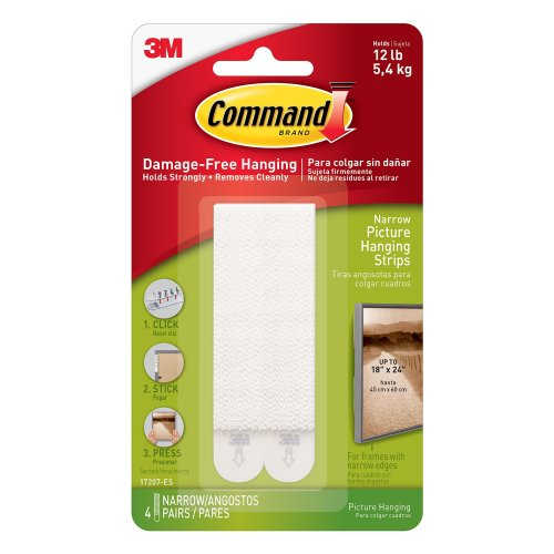 Command Narrow Picture Hanging Strips, 4 pairs