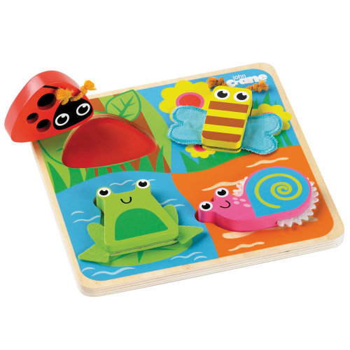 Tidlo Wooden Touch and Feel Puzzle - Bugs