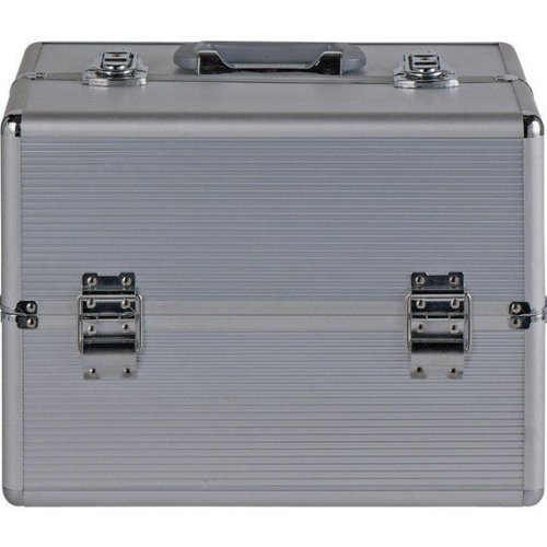 Pretty Pink Large Aluminium Vanity Case With Internal Drawer For Keeping Make-up