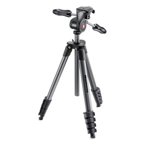 Manfrotto MKCOMPACTADV-BK Digital/film cameras Black tripod