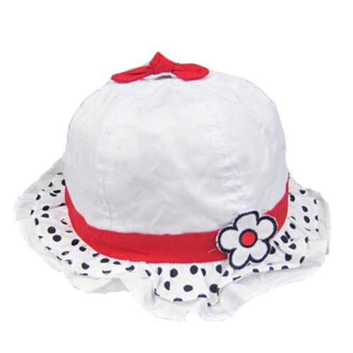 d11c8ad1b02 Baby Girls Sun Protection Hat Cotton Princess Infant Hat With Flower ...
