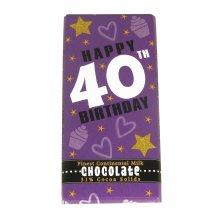 Chocolate Bar - Happy 40th Birthday