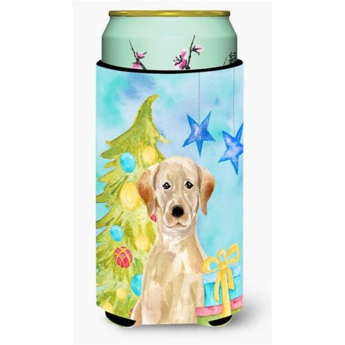 Carolines Treasures BB9401TBC Yellow Labrador Christmas Tall Boys Beverage Insulator Hugger