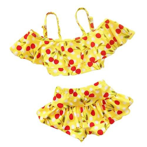 Girl Two-Piece Swimsuit Lovely Girls Swimsuit Swimwear, 22-27 kg