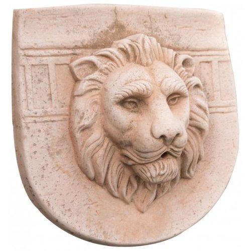 Tuscan Terracotta Pediment, W41xdp41xh44 Cm Sized