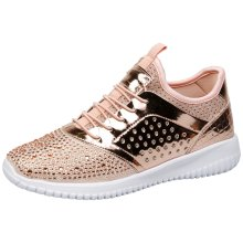 Ambrose Womens Flat Slip On Diamante Trainers