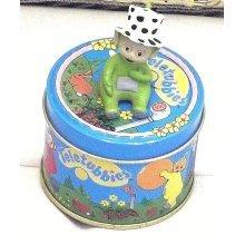 Vintage Teletubbie on tin box Vintage Dipsy Teletubbie on tin box (1996) rare