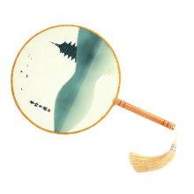 Elegant Hand Fan Aulic Circular Fan Chinese Fans Handheld Fan Mandarin Fan R