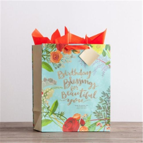 Dayspring Cards 175762 Gift Bag Specialty Birthday Blessings Psalm 139 14 NIV Large On OnBuy