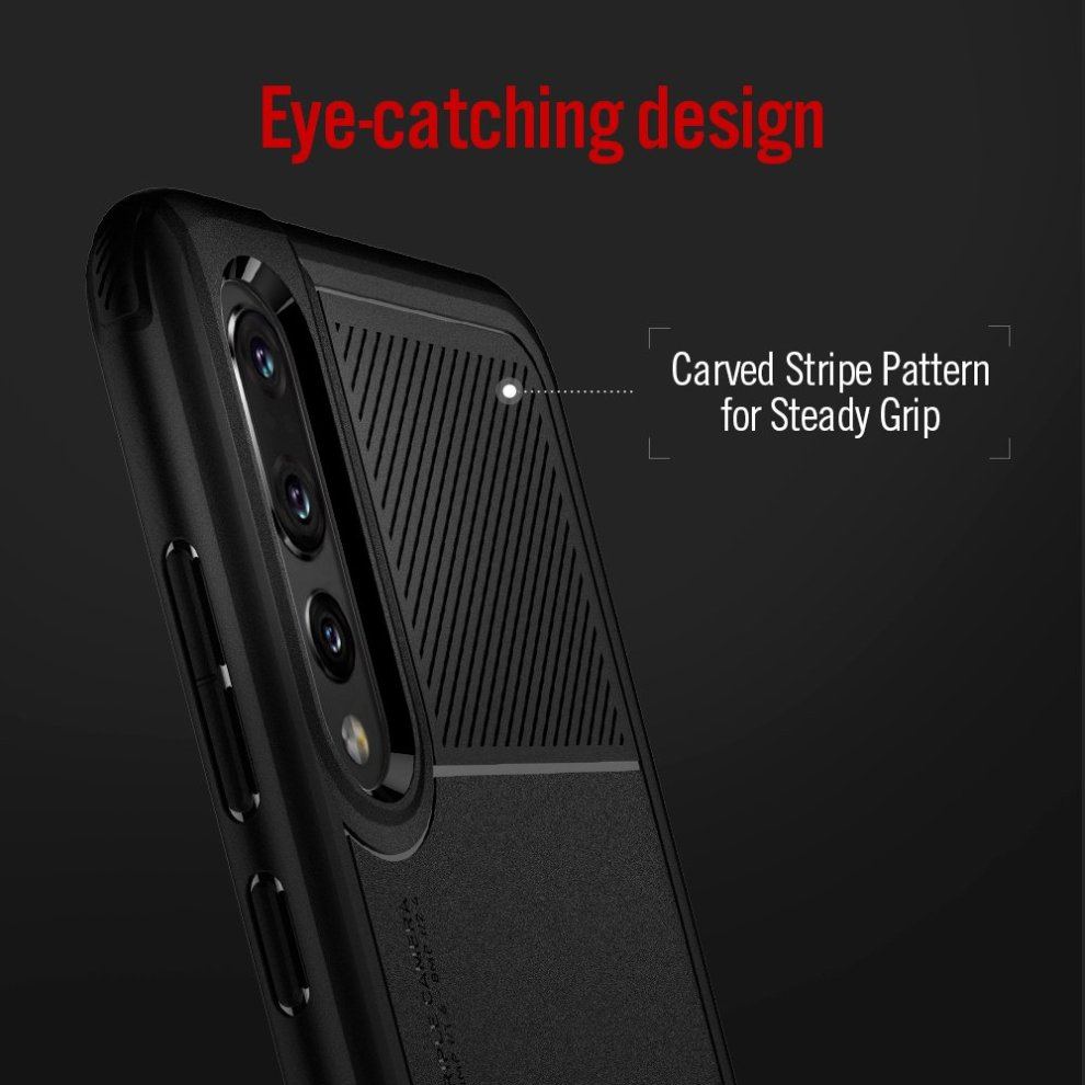 wholesale dealer 2479d f1fc8 Spigen [Marked Armor] [Black] P20 PRO Case, Slim Camera Protection Air  Cushion Technology Full Body Shock Absorption Phone Case Cover for P20 PRO  -...