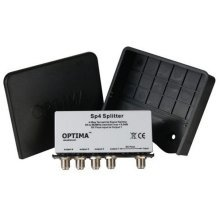 Optima SP4 4 Way Terrestrial TV Signal Splitter with Weatherproof Housing