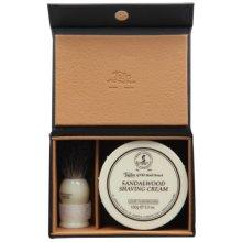 Taylor of Old Bond Street Luxury Shaving Gift Set Box - Sandalwood Shaving Cream &amp Pure Badger Shaving Brush *NEW*