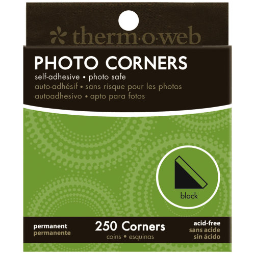 Photo Corners Boxed 250/Pkg-Black
