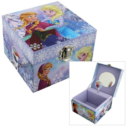 "Children's Disney ""Frozen"" Elsa & Anna Themed Musical Jewellery Box"