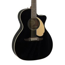 Fender Newporter Player Electro-Acoustic Guitar, Jetty Black