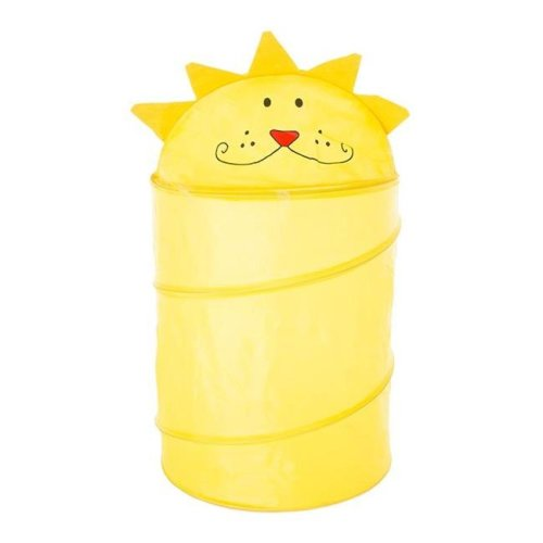 Trademark Global 83-23LION Lion Pop-Up Laundry Hamper for Childrens, Yellow