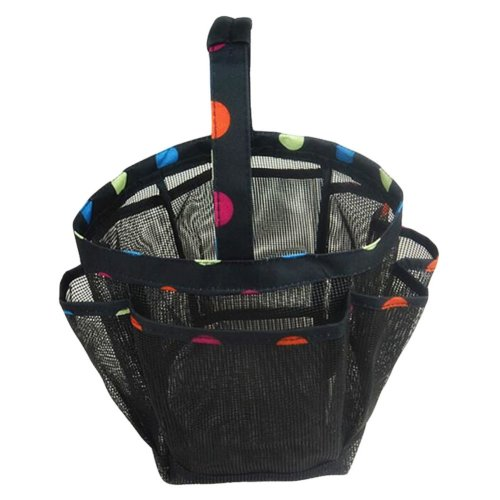 Outdoor Camping Quick Dry Mesh Shower Accessories Tote With Handle