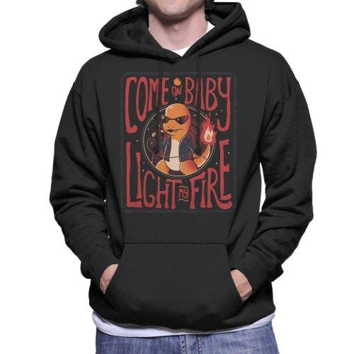 Come On Baby Light My Fire Charmander Men's Hooded Sweatshirt