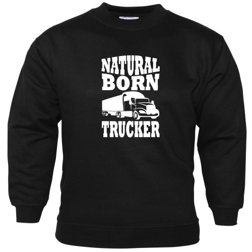 Natural Born Trucker Unisex Sweatshirt Lorry Driver Cab Accessories Lorries