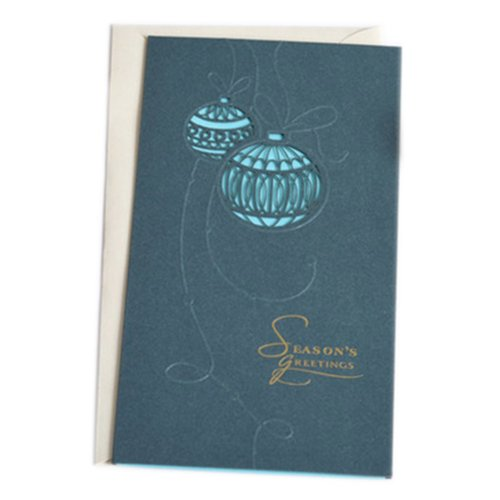 Christmas Cards Greeting Cards Christmas Gift Xmas Cards (4 Cards and Envelopes), Blue # 25
