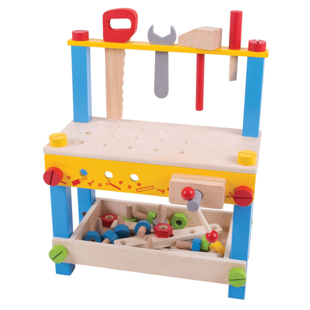 Tremendous Bigjigs Toys My First Wooden Workbench With Tools Creativecarmelina Interior Chair Design Creativecarmelinacom