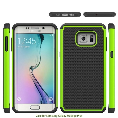 release date: 2adc6 40784 For Samsung Galaxy S6 Edge Plus Edge+ Case Hybrid Rugged Rubber Silicon+PC  Shockproof 2 In 1 Hard Cover Cases For S6edge+
