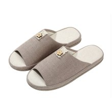 (Made By Flax)Skidproof The Simple Style Of Home Slippers(khaki)