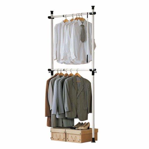 SoBuy FRG109 Adjustable Hanging Clothes Rail | Telescopic Clothes Rack