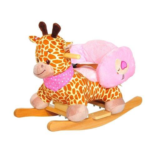 Homcom Kids' Giraffe Rocker | Kids' Ride-On Giraffe Toy