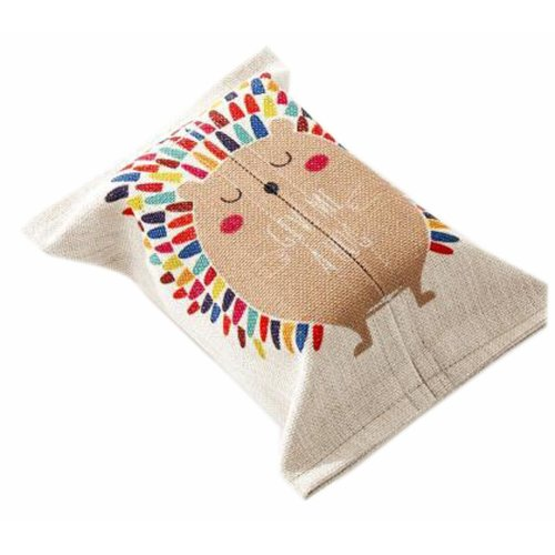 Convenient Cloth Toilet Paper Tissue Holder Storage Box Hedgehog Multicolor