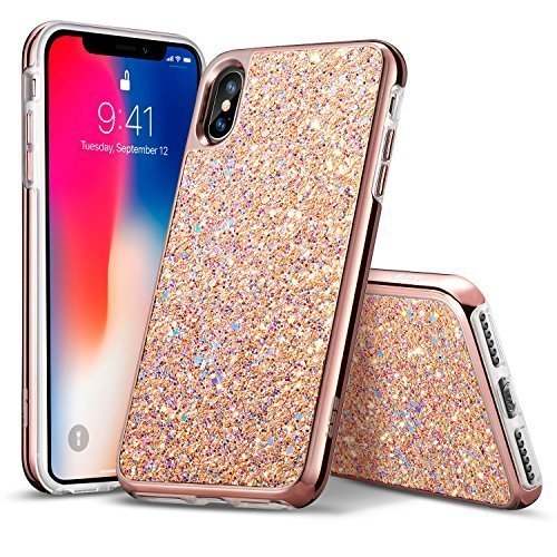 sports shoes 05090 0349d ESR iPhone XS/iPhone X Case,Glitter Hard Case Sparkle Bling Cover with  Dual-Layer Structure [Hard PC Back Exterior+Soft TPU Interior] for Women...