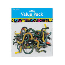 Pack of 12 Realistic Snakes