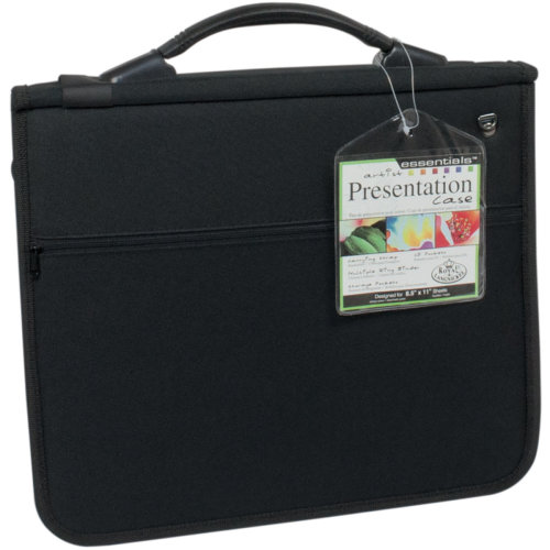 "essentials(TM) Soft Black Nylon Presentation Case-8.5""X11"""
