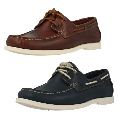 Mens Clarks Deck Style Shoes Nautic Bay - G Fit