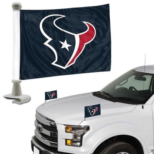 Team ProMark 84863 4 x 6 in. Houston Texans Ambassador Car Flag, Set of 2