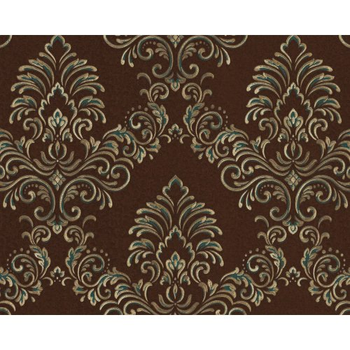 EDEM 9084-26 Baroque wallcovering with metallic highlights brown gold 10.65 sqm