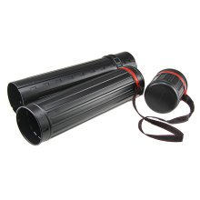 Poster Tube Plastic Storage Tube Expands From 54 CM To 81 CM Length-Black