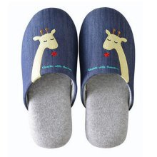 Family Winter Warm & Cozy  Indoor Shoes Couples Cartoon House Slipper, D