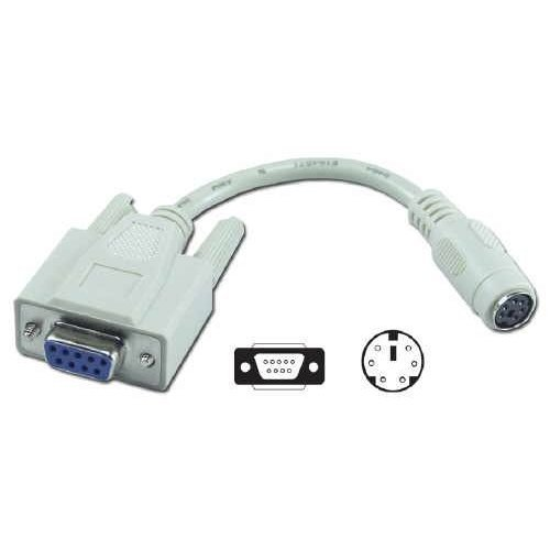 QVS CC2008RC 6 in DB9 Female to Mini6 Female PS 2 Mouse to Serial Port