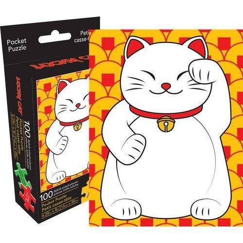 Aquarius Lucky Cat 100 Piece Adult Pocket Jigsaw Puzzle