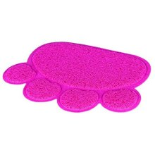 Trixie Cat Tray Litter Mat Pvc, Paw Shape 40×30cm Pink - Toilet 40387 Pvc Floor -  cat trixie toilet paw pink 40387 pvc litter tray mat floor print