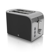 Swan 2 Slice Retro Toaster 800 Watt - Black With Browning Control (ST17020BN)