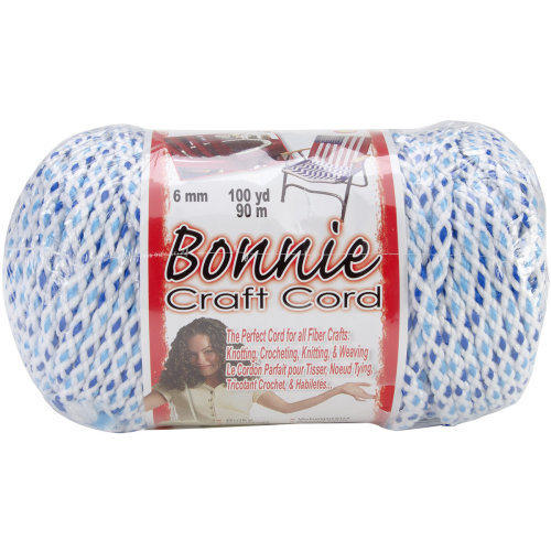 Bonnie Macrame Craft Cord 6mmX100yd-Marine Mix