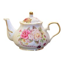 Coffee Tea Pot for Tea Service Flowers Pattern