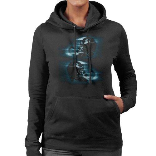 (XX-Large) Original Stormtrooper Imperial TIE Pilot Helmet Hologlyph Women's Hooded Sweatshirt